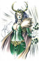 LadyLoki by ebas with inks WayneFaucher and colors Laura Martin and now owned by Darby Watkins